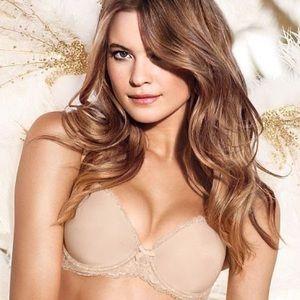 Victoria's Secret Dream Angels Lined Demi Bra 32F